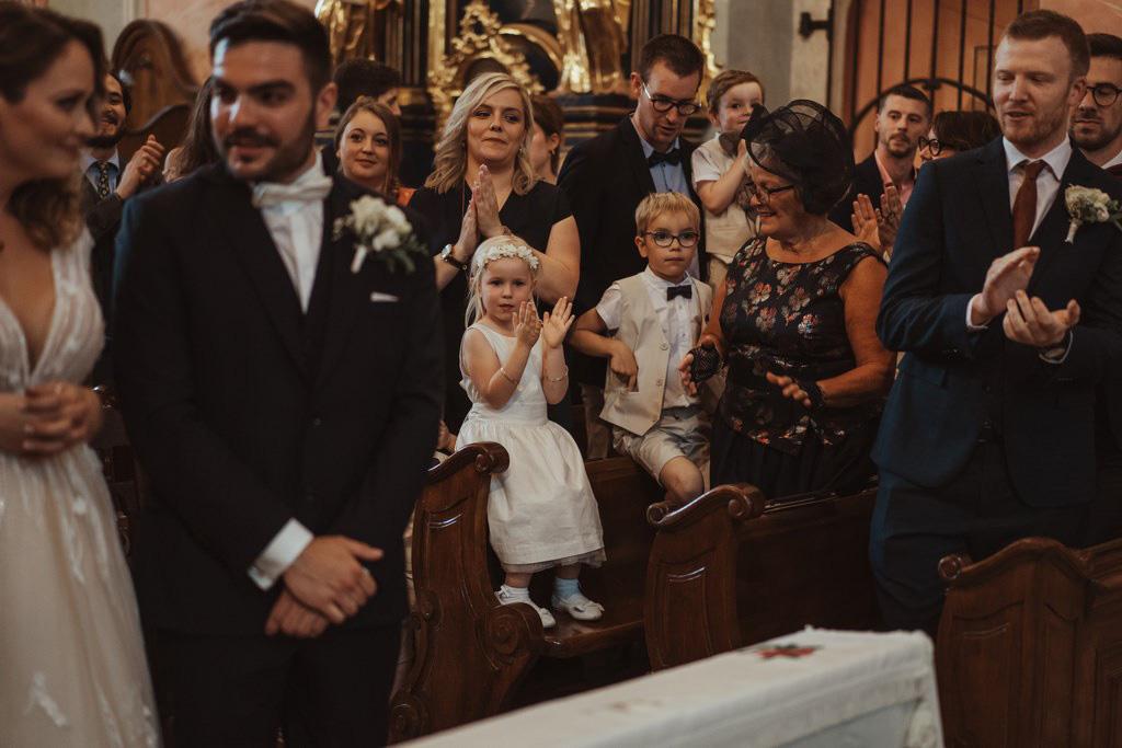 kościół św. Barbary, ślub, fotograf ślubny
