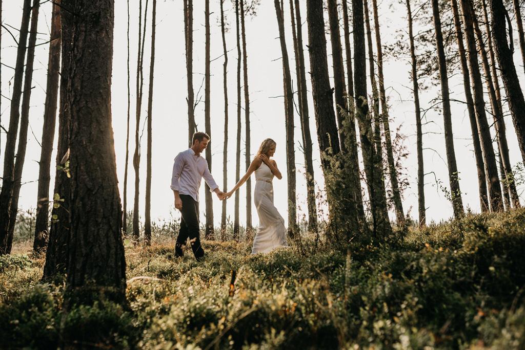 plener ślubny, kraków, fotograf, las
