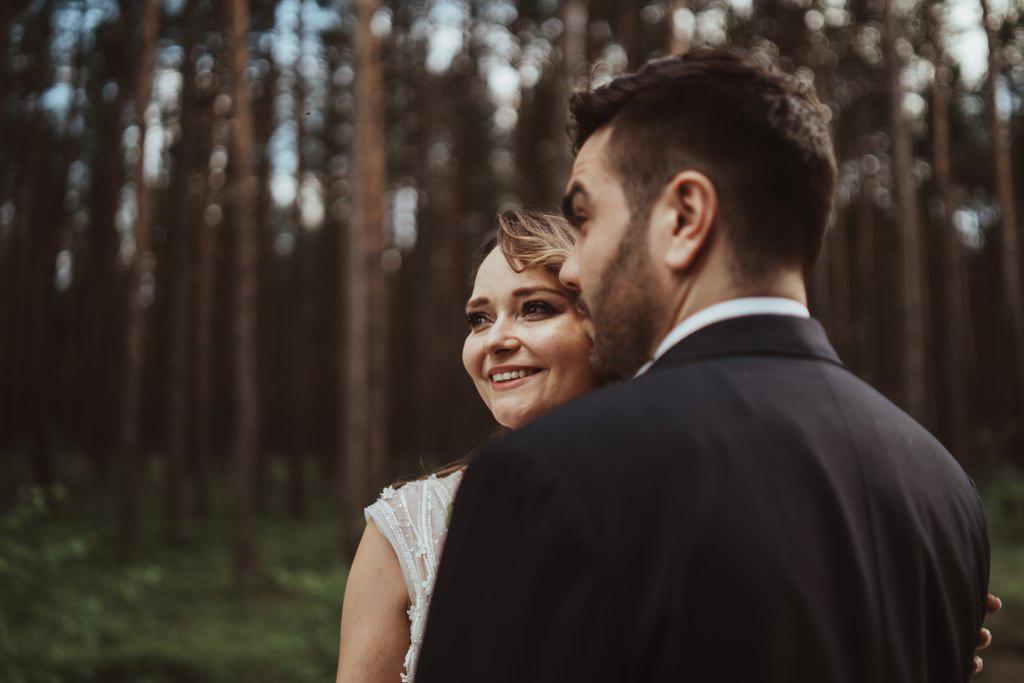 plener ślubny, las, małopolska